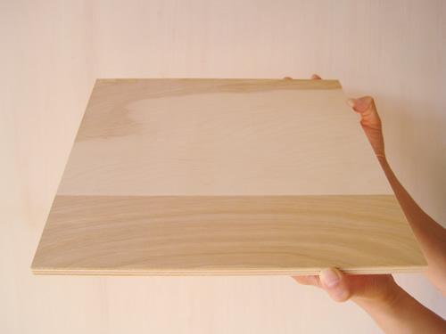 白樺間伐材合板