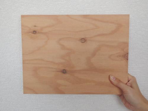 カラ松薄化粧合板